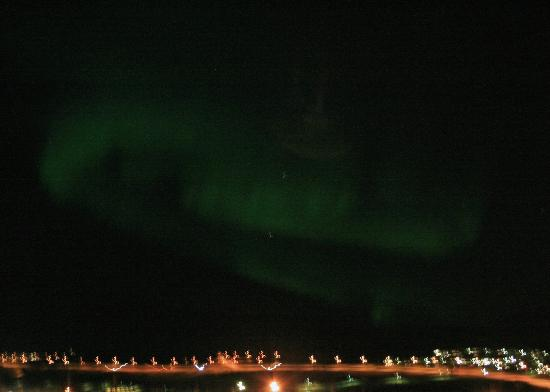 Hotel Laxnes: Northern Lights from my balcony (10-17-12)