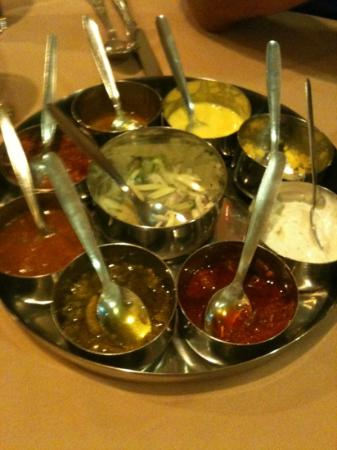 the chillis and chutneys at Clifton cuisine!