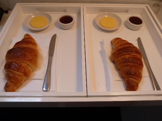 At The Chapel: Freshly baked croissants for breakfast in bed