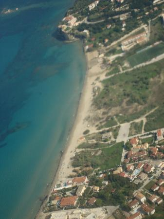 Contessina Hotel: Tsilivi beach from the air.