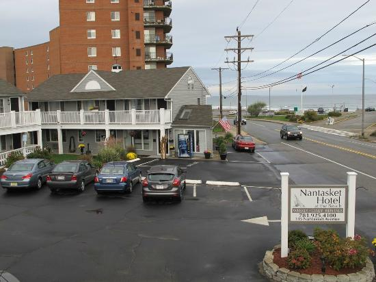 Nantasket Hotel at the Beach: ベランダからの眺め。