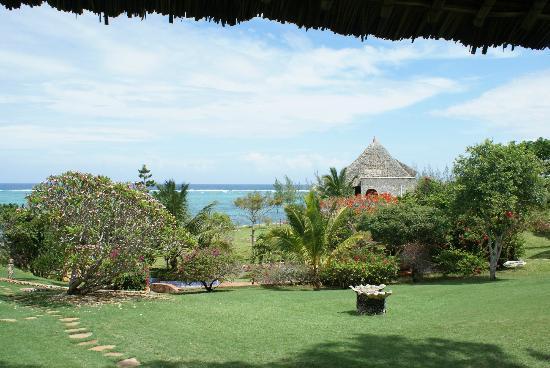 Tijara Beach: The view from the dining room towards the sea