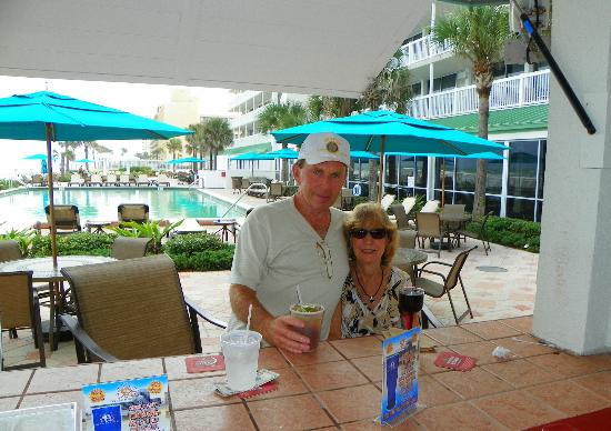 Daytona Beach Resort and Conference Center : BILL and CHRISY..Enjoying
