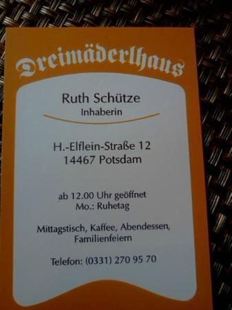 Dreimaderlhaus : Card