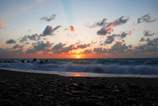 tramonto foto di in riva al mare capo d 39 orlando On carmel in riva al mare