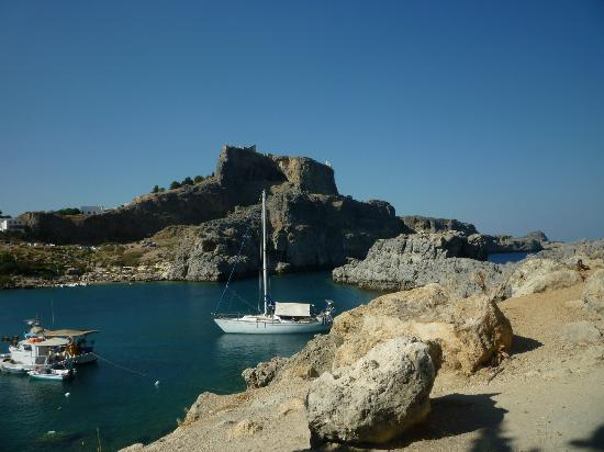 Agios Pavlos Beach (Saint Paul): A different view of the acropolis.