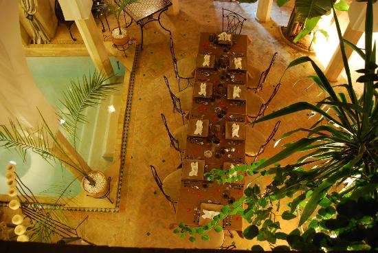 Riad d'Airain Marrakech: Patio vue d'en haut