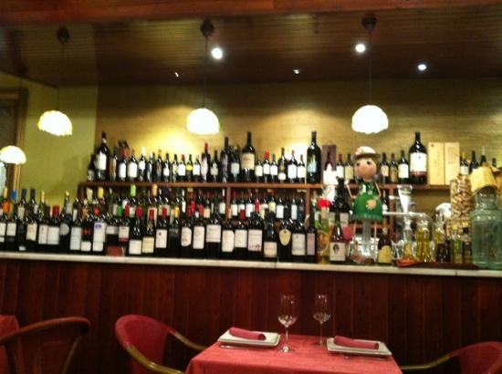 Carta de vinos de Casa Rita
