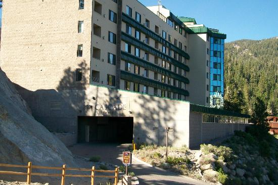 The Ridge Tahoe: Entrance to parking garage & outside of building