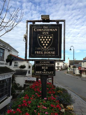 Cornishman Inn Tintagel: Their pub sign