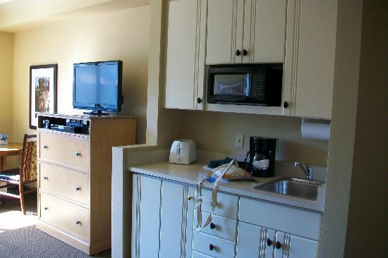 "The Ridge Tahoe: ""Kitchenette"" in master bedroom"