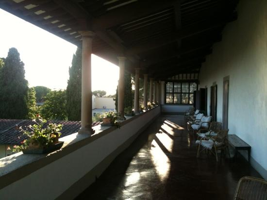 Villa Villoresi: the loggia, great place to watch the sun set