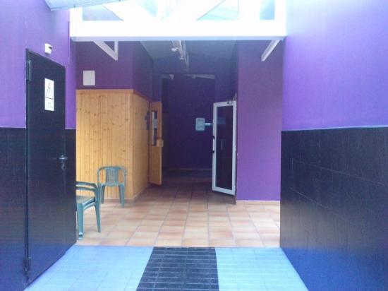 Hotel Andorra Center: sauna y baño turco, al fondo gimnasio y cabina de masajes