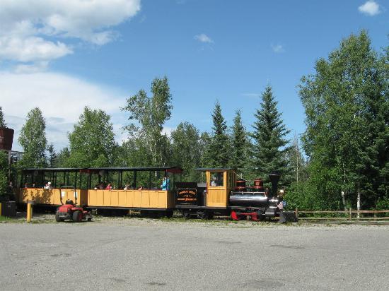 Pioneer Park : The Crooked Creek & Whiskey Island Railroad.