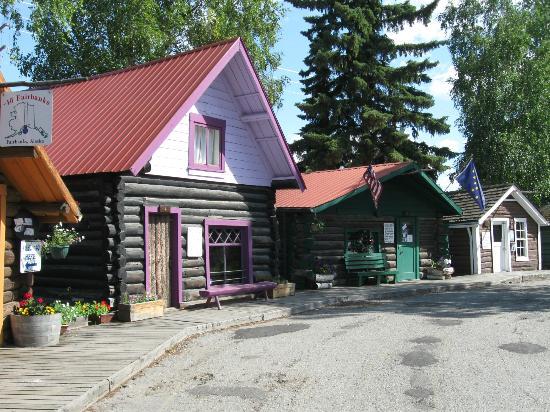 Pioneer Park: Historical Fairbanks buildings.