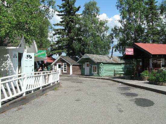 Pioneer Park: Historical Fairbanks buildings.