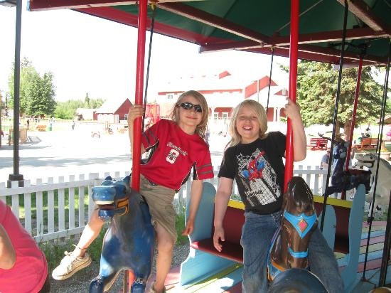 Pioneer Park: Never too old to ride the Carousel!