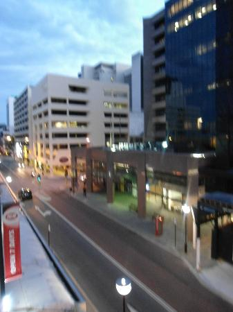 Criterion Hotel Perth: looking left from our balcony