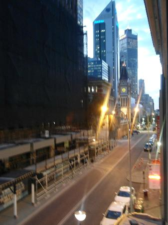 Criterion Hotel Perth: view from balcony looking right towards Hay St shops