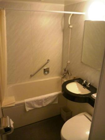 Hotel MyStays Kyoto Shijo: Slightly bigger bathroom than other hotels, plus lots of free shampoo and conditioner.