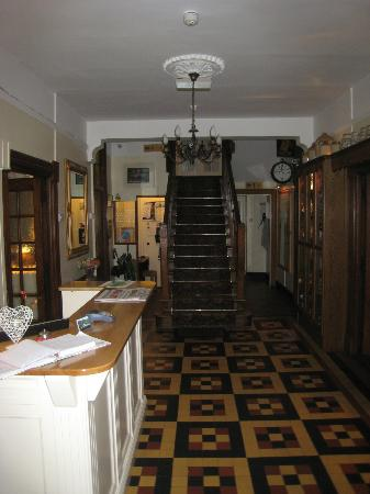 The lobby/front desk at Gougane Barra Hotel