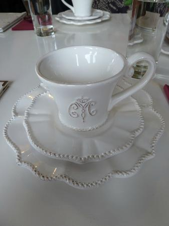 Melrose House Cafe: China cups and saucers