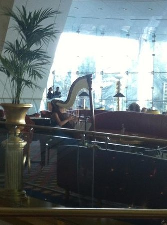 Skyview Bar : harpist
