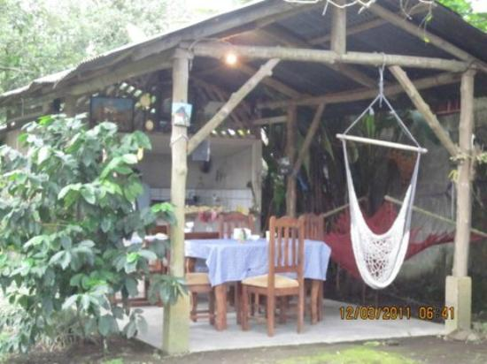 Posada Del Arenal: Outside Dining/Kitchen