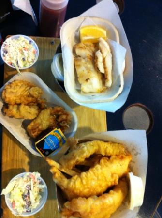 Dicks Fish & Chips - MOVED: cod, yam fries, deep fried oysters