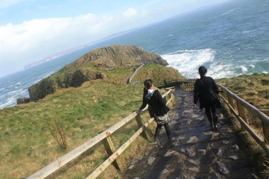Carrick-A-Rede Rope Bridge: Nearly there