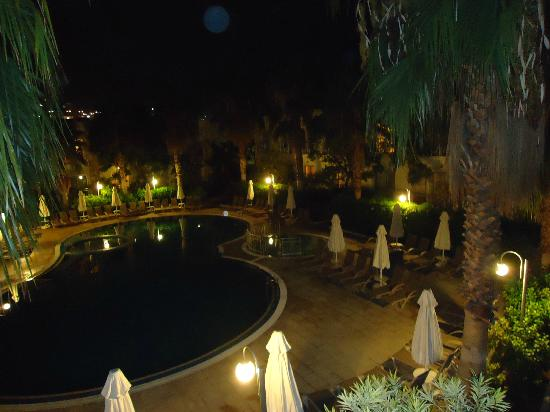 Mandarin Resort: View from room at night