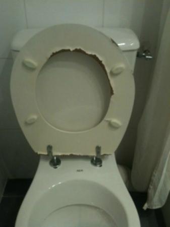 TIMHOTEL Paris Gare De Lyon: L'abattant des toilettes (il a été changé suite à ma remontée mais son état ne devait pas être d