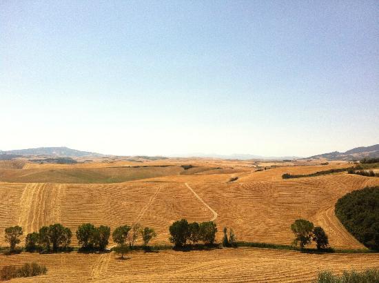Agriturismo Bellavista Toscana : Panorama dall'Agriturismo verso Volterra.