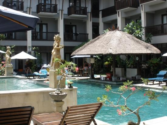 The Lokha Legian: pool view from ground floor room