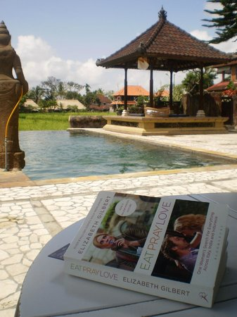 Cendana Resort and Spa: Lovely infinity salt-water pool alongside the rice field