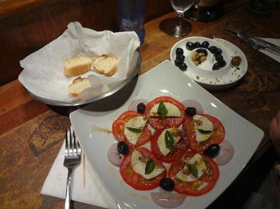 Tomato salad in Restaurant Pasta Baladin in Essaouira