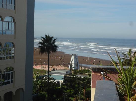 Window view of hotel de la corniche in Casablanca