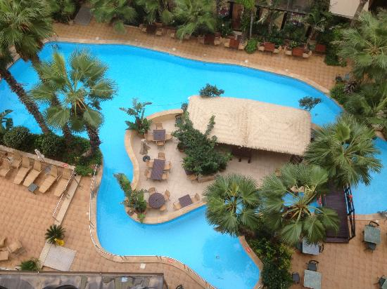Fortina Spa Resort: View of the Garden from the 7th Floor.
