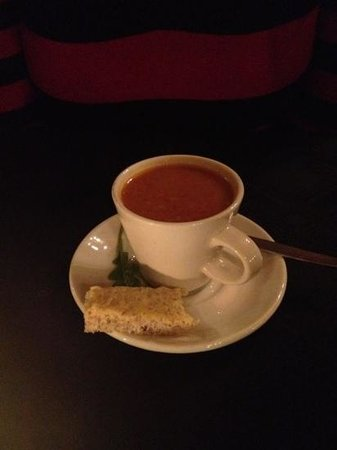The Rose on York Restaurant : Beef & barley soup - nice touch.
