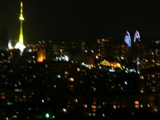 Caspian Palace: Aussicht in der nacht