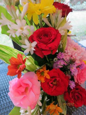 Villa Drupadi: Welcome flowers