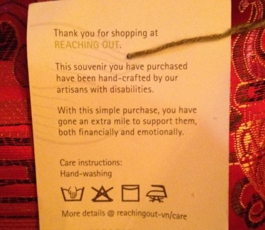Reaching Out Arts and Crafts: Price tag