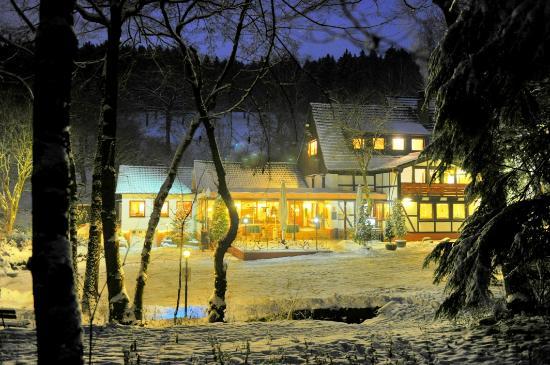 Iserlohn, Deutschland: Das Jagdhaus im Winter