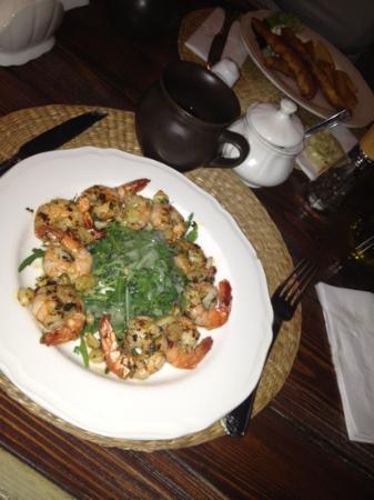 Restauracja Kwadrans : krewetki....mmmmm!