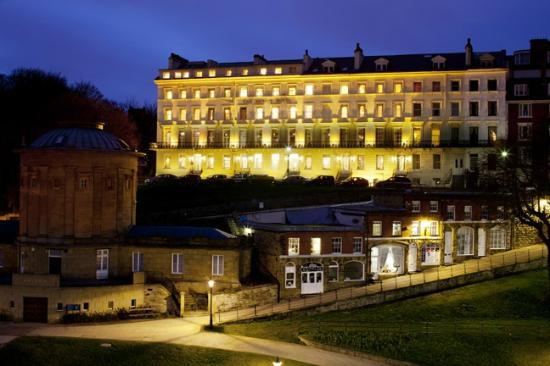 The Mount Hotel at night