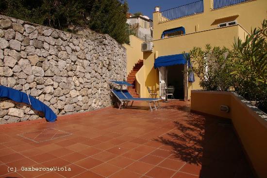 Hotel Weber Ambassador Capri: il terrazzo della stanza 200