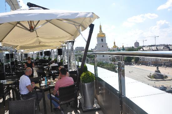 Hyatt Regency Kiev : la vue du bar de l'hotel