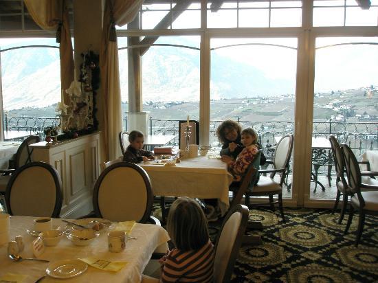 Finkennest: Panorama dalla sala ristorante