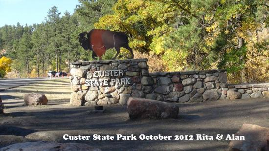 Custer State Park: Custer park sign