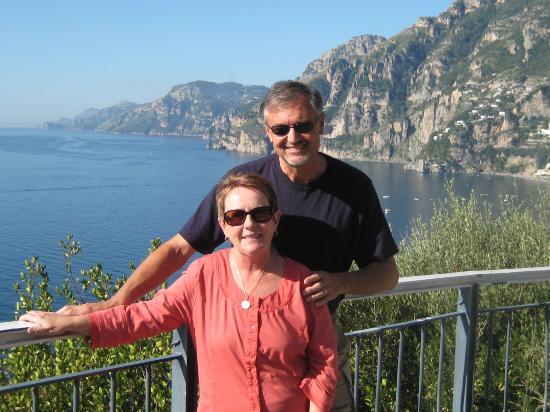 Tours Pompei: Gianluca took this shot of us on the Amalfi Coast